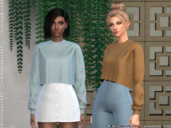 The Sims Resource: Ghostin Top by Christopher067