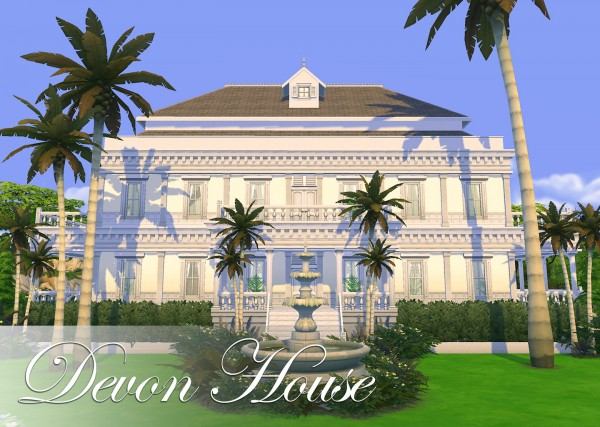 Mod The Sims: Devon House (NO CC) by FernSims