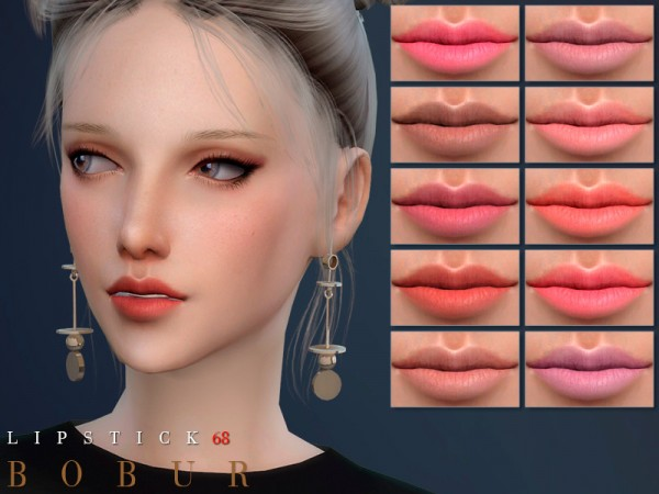 The Sims Resource: Lipstick 68 by Bobur3
