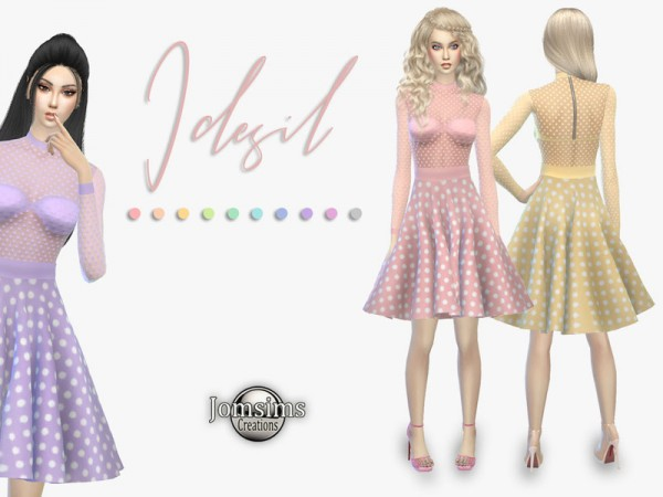 The Sims Resource: Idesil dress by jomsims