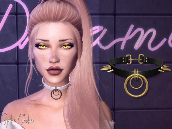 The Sims Resource: Genius Spike Choker by Genius666