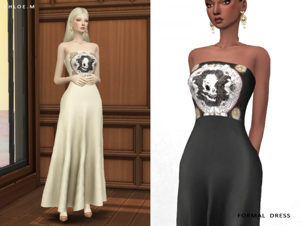 The Sims Resource: Formal Dress by ChloeMMM