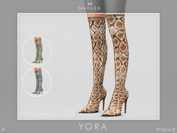 The Sims Resource: Madlen Yora Boots by MJ95