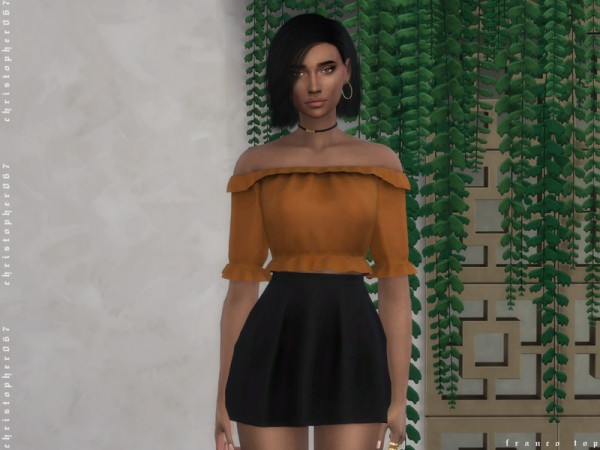 The Sims Resource: Franco Top by Christopher067