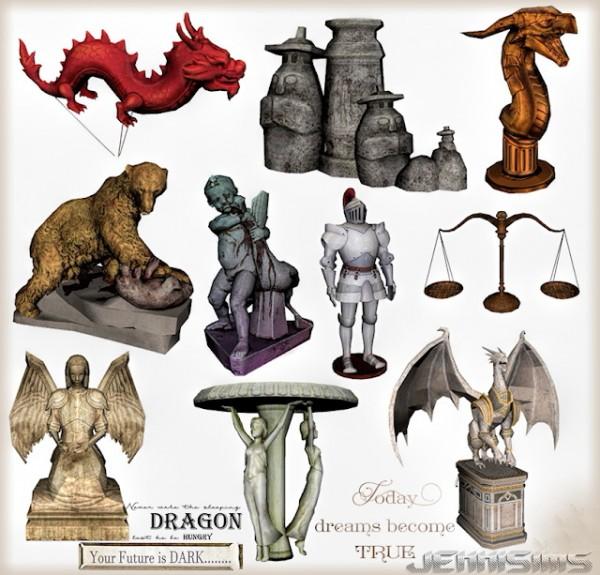Jenni Sims: Decorative Statues, Dragons, Angel
