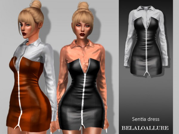 The Sims Resource: Sentia dress by belal1997