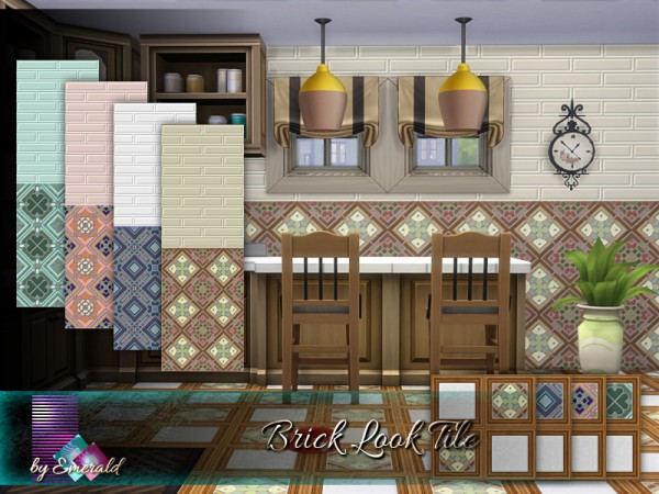 The Sims Resource: Brick Look Tile by emerald