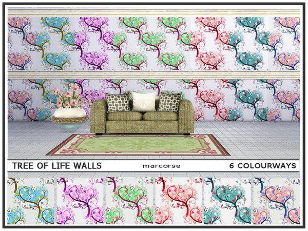 The Sims Resource: Tree of Life Walls by marcorse
