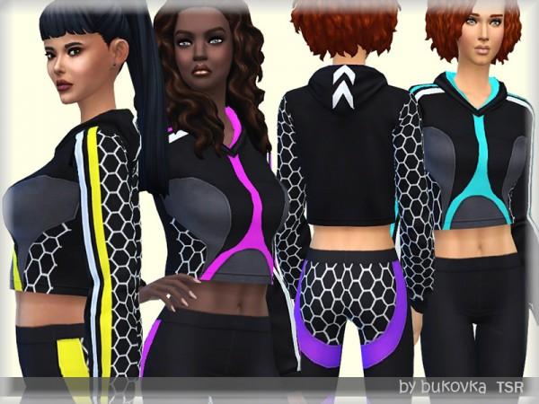 The Sims Resource: Honeycomb Hoody by bukovka
