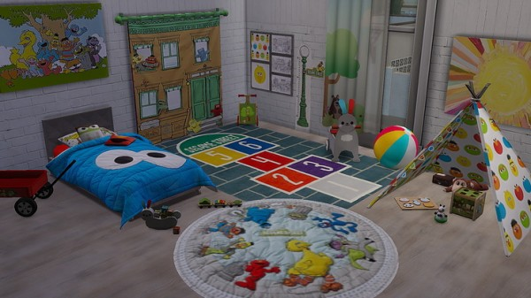 Blooming Rosy: Sesame Street Toddler Room