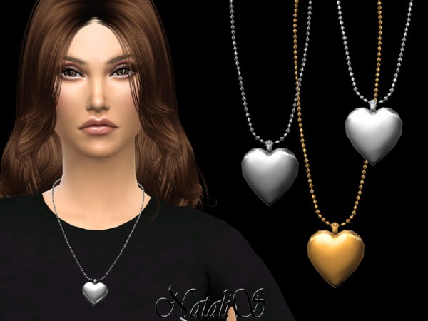 The Sims Resource: Heart locket pendant by NataliS