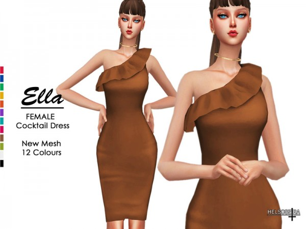 The Sims Resource: ELLA   Cocktail Dress by Helsoseira