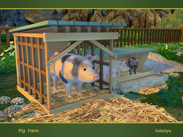 The Sims Resource Pig Farm By Soloriya Sims 4 Downloads