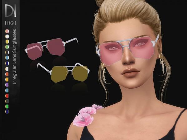 The Sims Resource: Irregular Lens Sunglasses by DarkNighTt