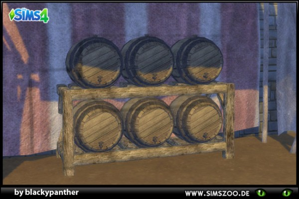 Blackys Sims 4 Zoo: Middle Age Market barrel by  blackypanther