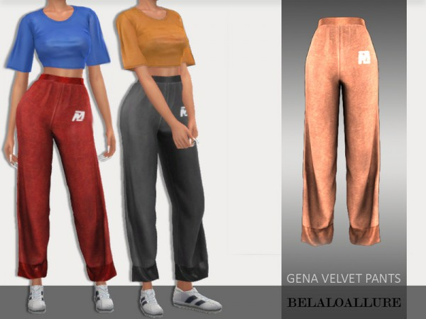 The Sims Resource: Gena velvet pants by belal1997