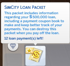 Mod The Sims: SimCity Loans by scarletqueenkat