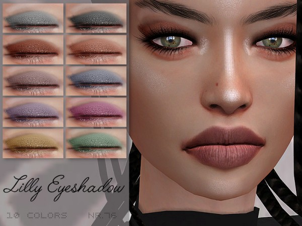 The Sims Resource: Lilly Eyeshadow N.76 by IzzieMcFire