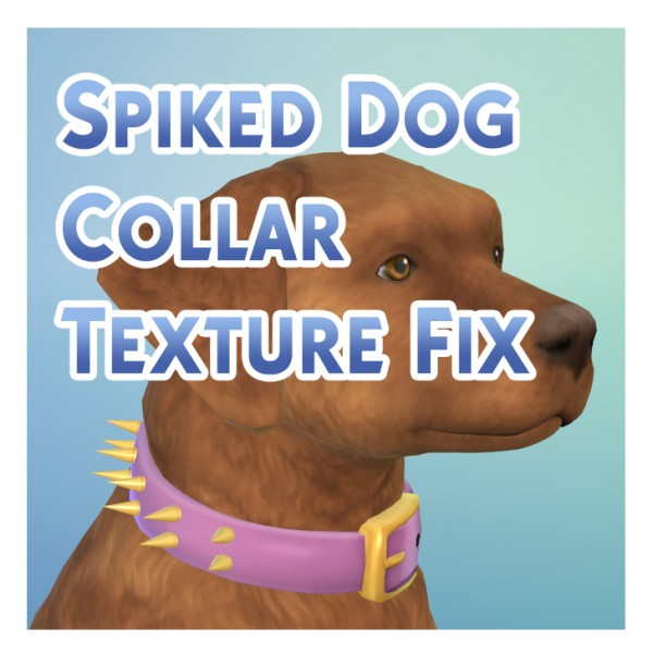 Mod The Sims: Spiked Dog Collar Texture Fix by Menaceman44