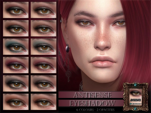 The Sims Resource: Antisense Eyeshadow by RemusSirion