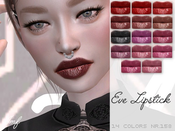 The Sims Resource: Eve Lipstick N.158 by IzzieMcFire