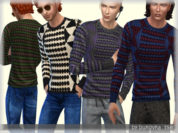 The Sims Resource: Knitted Sweater by bukovka