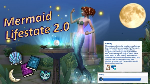 Mod The Sims: Mermaid Lifestate 2.0 by Gaybie