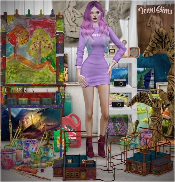Jenni Sims: Decorative set for Clutter Colorful 8 objects