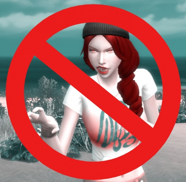 Mod The Sims: No More Vampire Growling  by  Xhallie