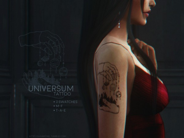 The Sims Resource: Universum tattoo by sugar owl