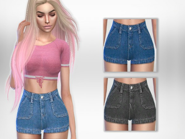 The Sims Resource: Lyn Shorts by Puresim