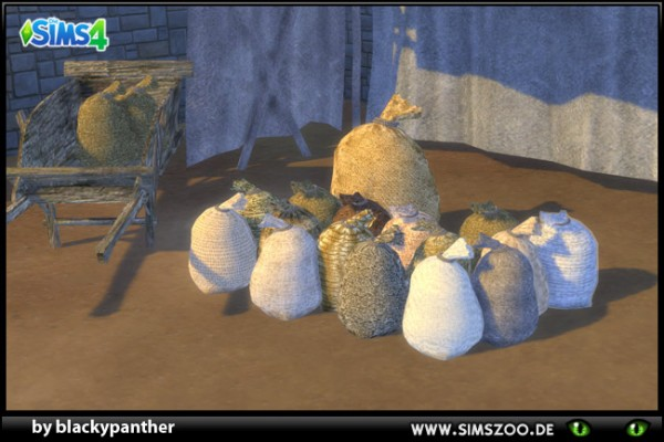 Blackys Sims 4 Zoo: Middle Age Market Sack1 Medium sized by  blackypanther