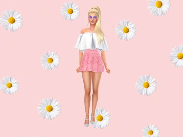 The Sims Resource: Daisy CAS Background by KatVerseCC
