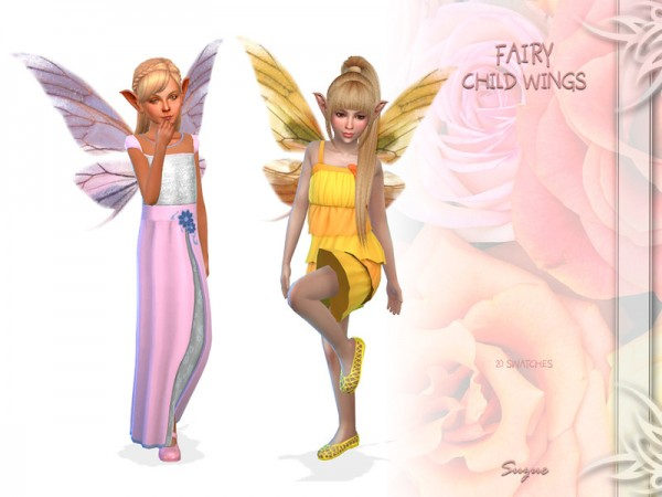 The Sims Resource: Fairy Child Wings by Suzue
