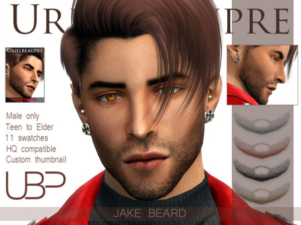 The Sims Resource: Jake beard by Urielbeaupre