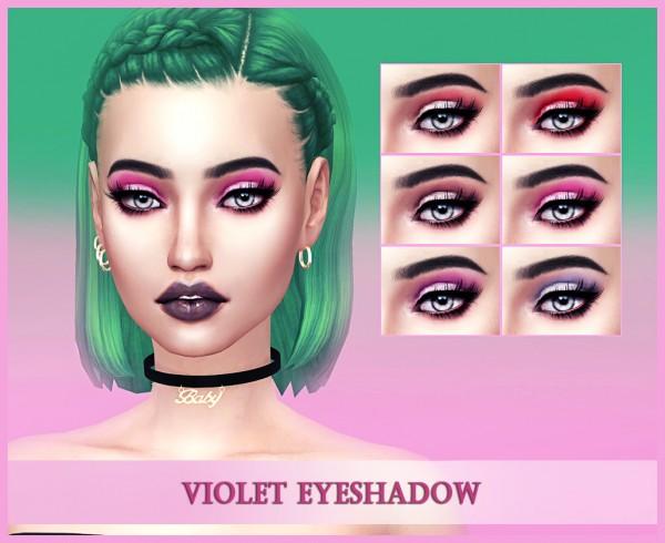 Kenzar Sims: Violet Eyeshadow