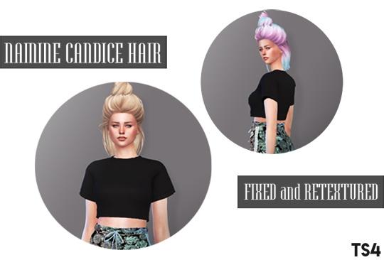 Descargas Sims: Namine Candice hairstyle retextured