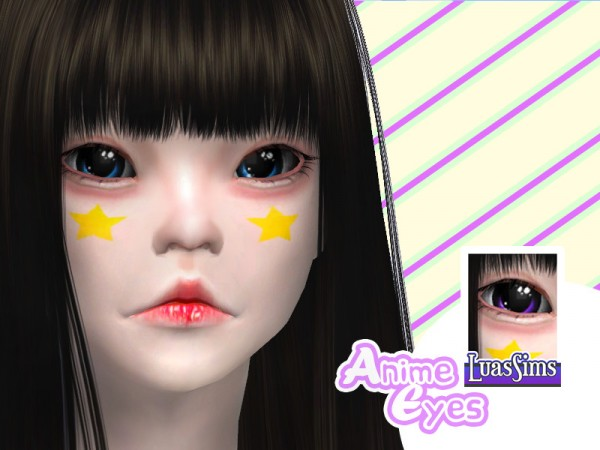 The Sims Resource: Anime Eyes by Luas Sims