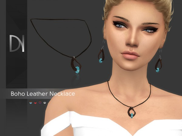 The Sims Resource: Boho Leather Necklace by DarkNighTt