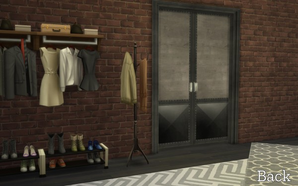 Mod The Sims: Industrial Railed sliding door retexture by lilotea