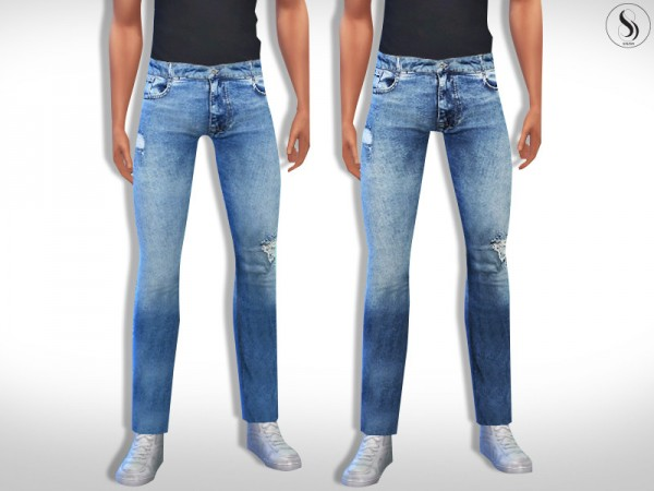 The Sims Resource: Pier One Men Slim Fit Jeans by Saliwa
