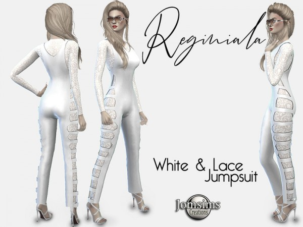 The Sims Resource: Reginiala white and lace jumpsuit by jomsims