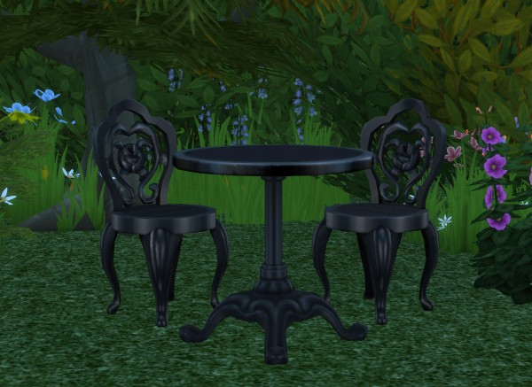 Alial Sim: Cafe Garden Dining Set