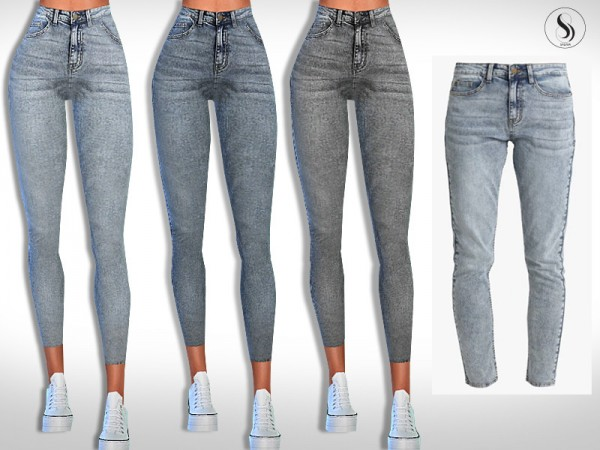 The Sims Resource: Relaxed Fit Jeans by Saliwa
