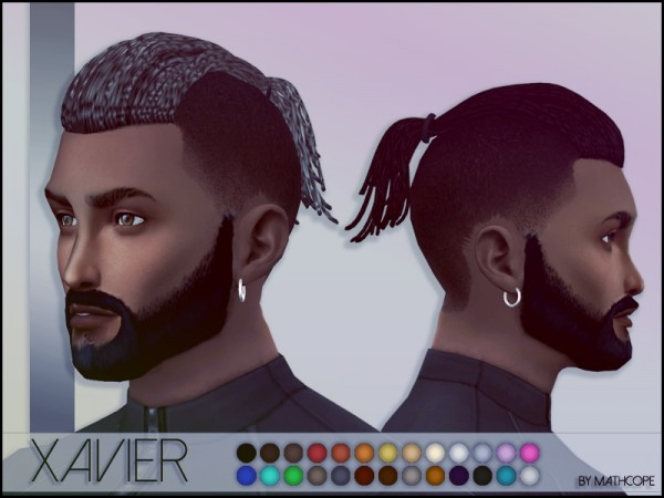 Sims 4 Studio: Xavier hairstyle by mathcope