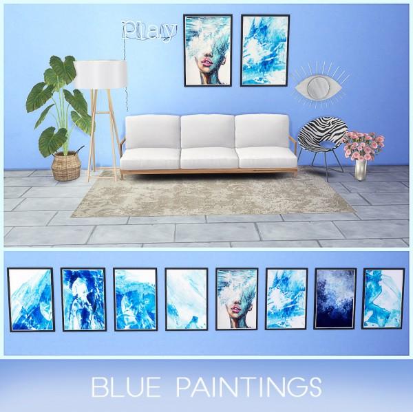 Kenzar Sims: Blue Paintings