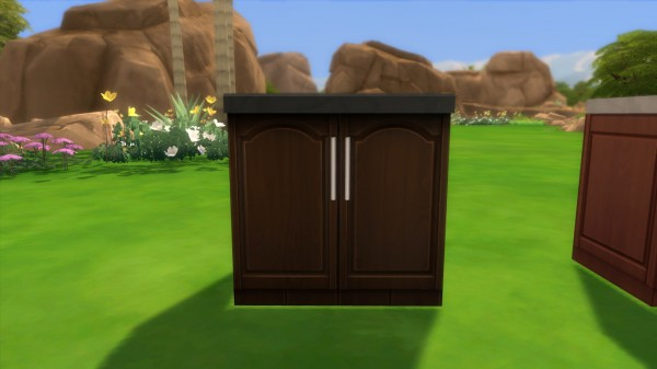 Mod The Sims: Kitchen Counters as Trash Bin by iloveseals