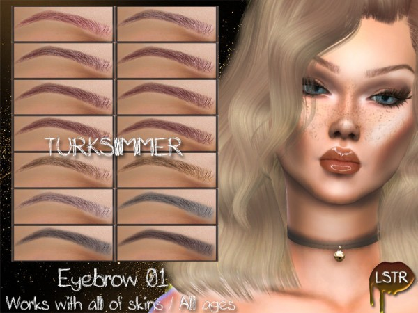 The Sims Resource: Eyebrow 01 by turksimmer