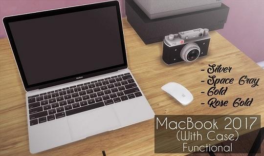 Descargas Sims: Functional MacBook 2017