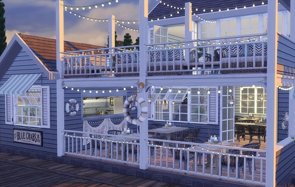Blooming Rosy Sea Breeze Restaurant Sims 4 Downloads